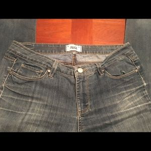 PAIGE jeans size 31.  Lightly distressed on thighs
